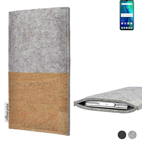 flat.design Handy Tasche Evora für Ulefone Power 6 handgefertigte Handy Hülle Kork Filz Hülle fair Kartenfach