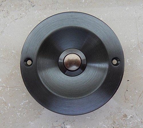 SCHARF metall design Klingel Klingelplatte Türklingel mit Taster brüniert