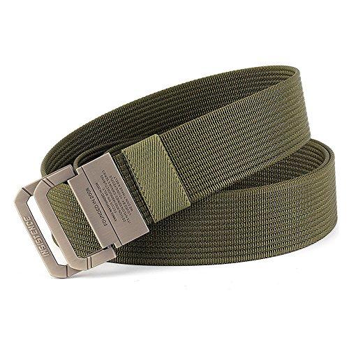 MUMUGO Equipo Militar Táctico Cinturón Hombre Doble Anillo Hebilla Espesar Cinturones de...