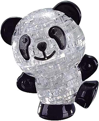 RiverFinn 3D Three-Dimensional Crystal Puzzle Animal Puzzle Fun Toy New 3D Puzzles for Kids Ages 12-14 3D Crystal Panda Jigsaw Puzzle.