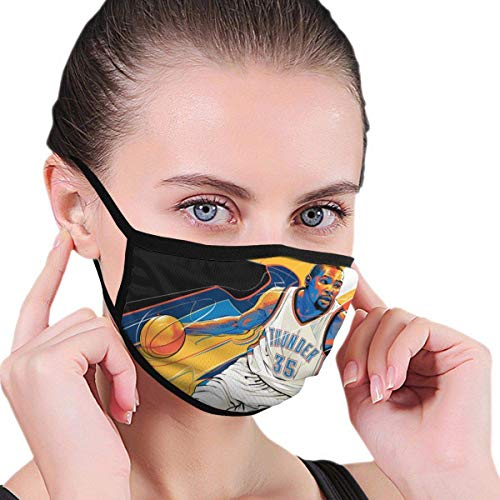 KDYBK MASK Kevin Finals 2016 Classic Matchup Durant Face Mouth Mask with Elastic Ear Loop Washable Face Cover Balaclave Black One Size