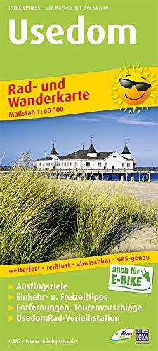 Usedom: Rad- und Wanderkarte mit Ausflugszielen, Einkehr- & Freizeittipps, wetterfest, reissfest, abwischbar, GPS-genau. 1:60000 (Rad- und Wanderkarte: RuWK)