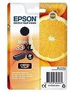 Epson 33XL Black Oranges High Yield, Genuine, Claria Premium Ink, Amazon Dash Replenishment Ready