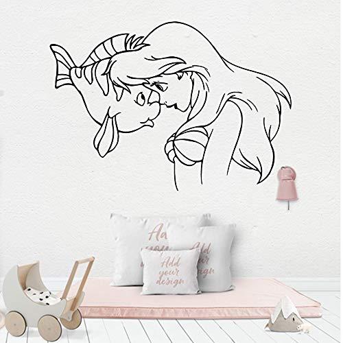 Sanzangtang schattige zeemeermin-slaapkamer wandsticker decoratie voor kinderkamer vinyl wandsticker slaapkamer baby behang zelfklevend