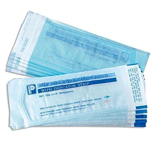 Premier, sacchetti per sterilizzazione trasparenti, 90 x 230 mm, confezione da 200 (3710)