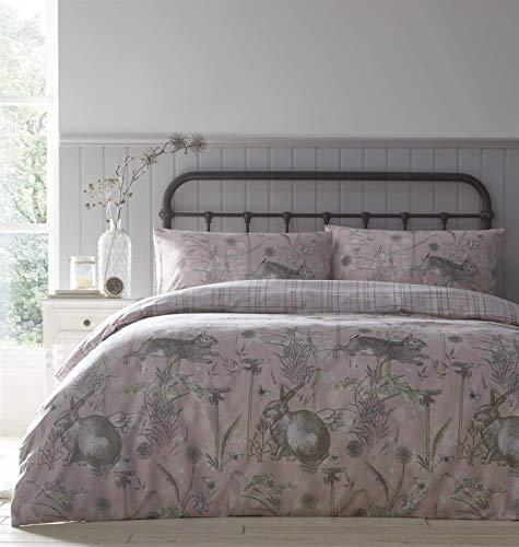 Portfolio Duvet Cover Set Bed Linen, Blush, Double