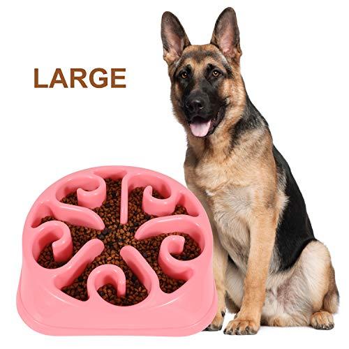 WERFORU Hundenapf Interaktiver Hundenapf Langsame Fütterung Futternapf Anti Schling Fressnapf Umweltfreundlicher für Hundefutter rutschfest Fressnapf