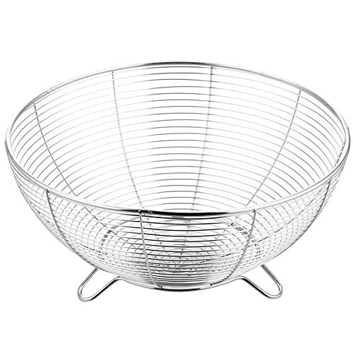 Iamagie Soporte para cesta de frutas y verduras, bandeja de almacenamiento de platos, soporte de mesa, organizador de alimentos, plato grande para cocina, armarios de casa, bar, baños (28 cm)