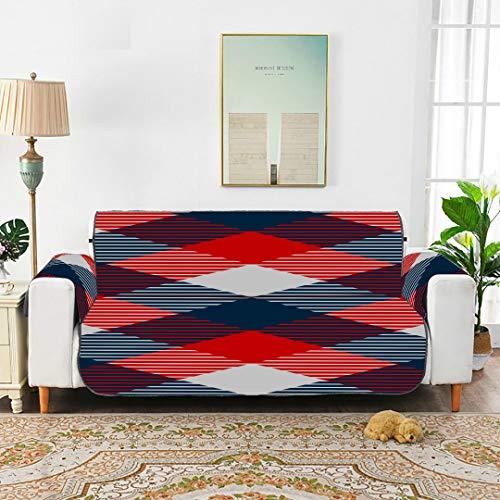 WDDHOME Karierter Karierter Stoff mit nahtlosem Muster Blaue Sofas Bezug Der Sofabezug T Cushion Chair Schonbezug 66