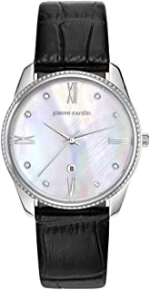 Pierre Cardin Womens Quartz Watch, Analog Display and Leather Strap PC107572F01