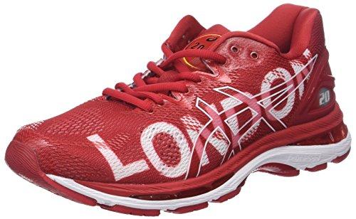 Asics Gel-Nimbus 20 London Marathon, Zapatillas de Running Hombre, Rojo (London/2018/Red 2323), 41.5 EU