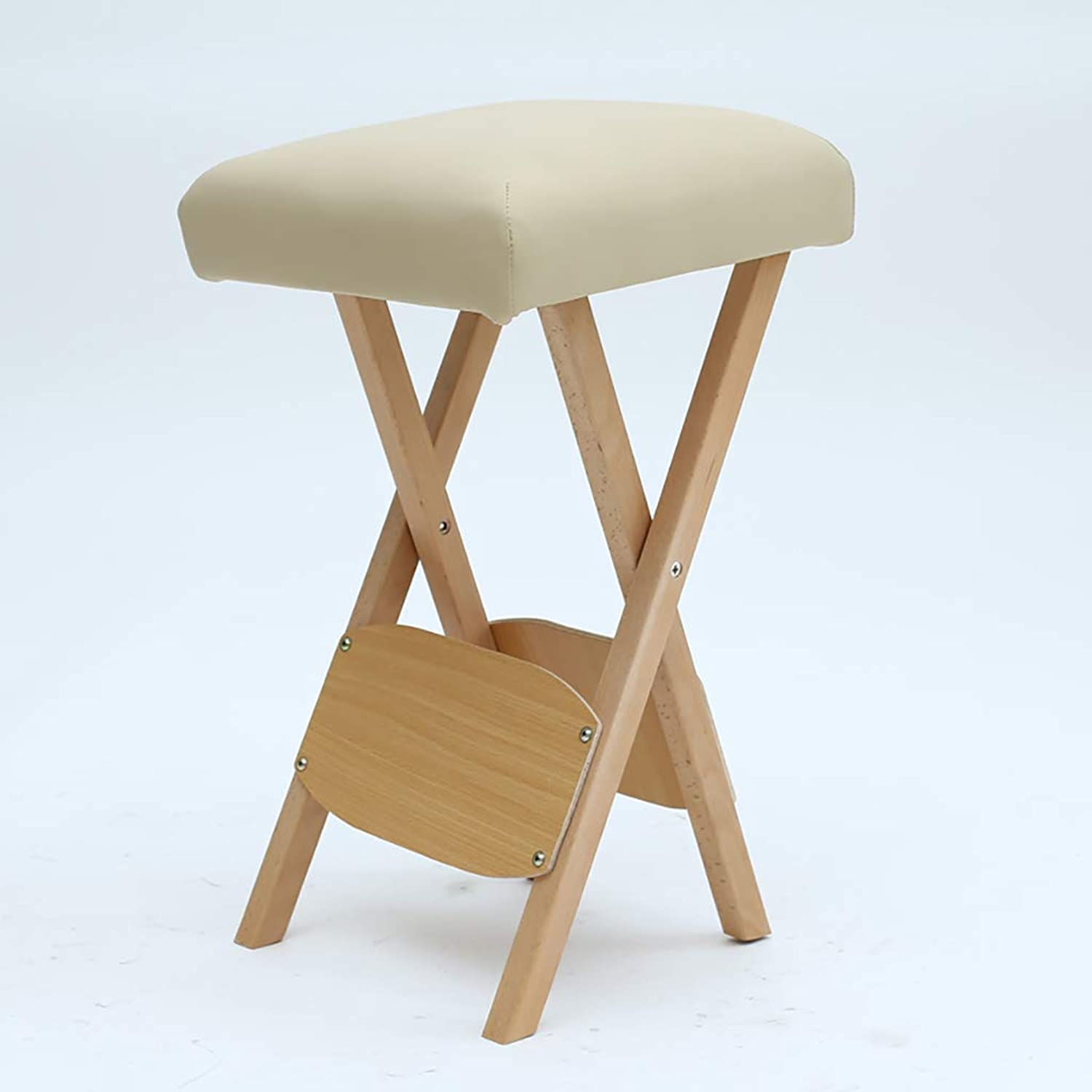 Folding Stool Beauty Technician Stool Massage Stool Square Stool Portable Stool Sponge Thickening Stool (color   B)