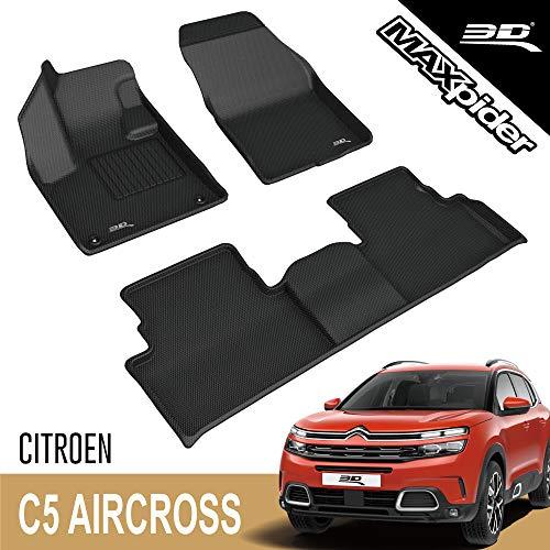 3D MAXpider Alfombrillas para Citroën C5 Aircross 2017 – 2020+, alfombrillas de goma