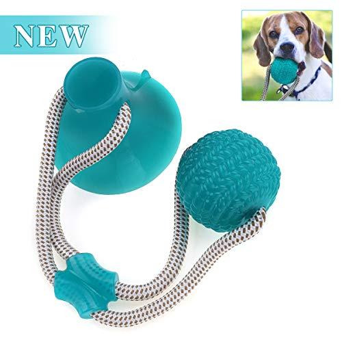 Pelota de juguete al aire libre para perros, Charminer Juguete Multifuncional para mordedura de Molar para Mascotas, Juguete de Bola de Perro de Estilo de Ventosa Resistente a la masticación