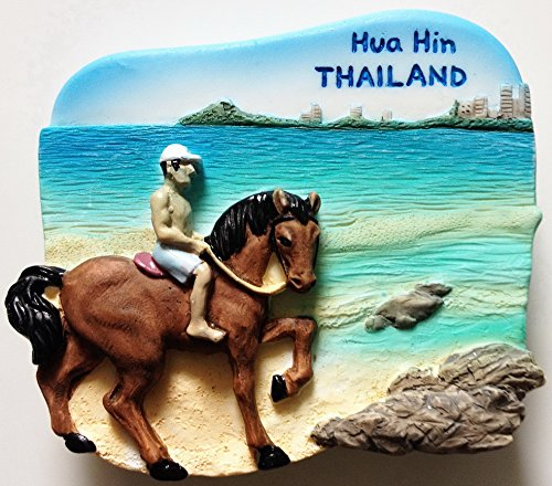 Hua Hin Tailandia resina de alta calidad 3d imán de nevera nevera tailandés hecho a mano Craft.