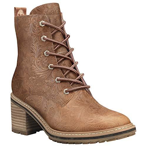 Timberland Women's Sienna High Waterproof Side Zip Boot Fashion, Rust Full Grain Emboss, 070 M US
