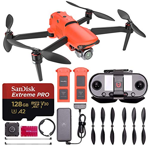 Autel Robotics EVO II PRO 6K Drone with Starter Accessory Bundle - Includes: SanDisk Extreme PRO 128GB Micro SD Card, Spare Flight Battery, & Much More (International Version)