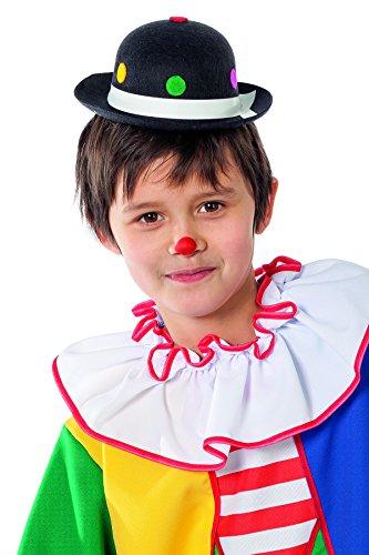 Jannes 9301 Hut Clown Mini-Melone mit Punkten Bibi Einheitsgröße Schwarz