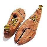 [ワイアールエムエス] ねじ木製シューキーパー 靴の型崩れ防止に アロティックシダー シューツリー 木製メンズ (S:25~26cm)