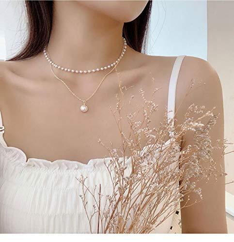 LIUL Collar con Colgante de Cruz, Collares Vintage para Mujer, Cadena de Color Dorado de Bohemia, Collar con Colgante de Moda, joyería