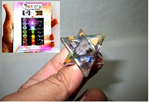 Fantastic Orgone Merkaba Star Free Booklet Jet International Sacred Geometry Aura Platonic Healing Genuine Crystal Divine EMF Protection