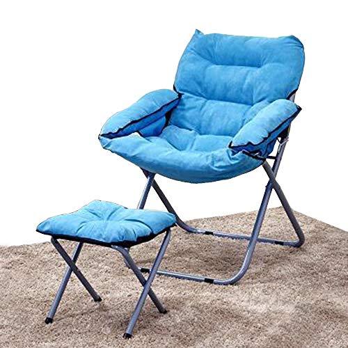 Axdwfd Chaise longue Chaise longue, chaise longue Bureau Pause-déjeuner dortoir étudiant Chaise d'ordinateur Femme enceinte Chaise chaise pliante 80 * 51 * 76CM (Couleur : Bleu)