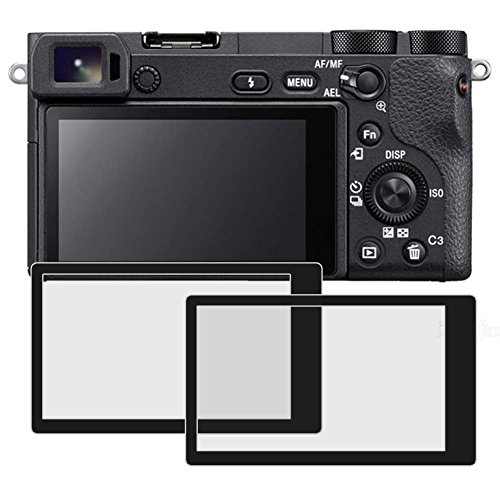 PCTC Tempered Glass Screen Protectors Compatible for Sony DSLR Alpha A6400 A6500 A5100 ILCE-6500 ILCE-6500KIT Camera (2 Packs)