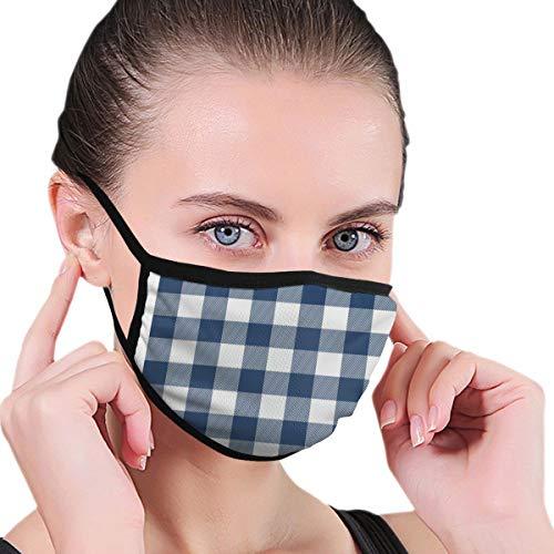 Masks Lumberjack - Máscara de cuadros blancos cuadrados con patrón azul para hombres y mujeres