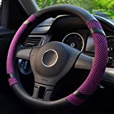 BOKIN Steering Wheel Cover Microfiber Leather Viscose, Breathable, Anti-Slip, Odorless, Warm in...