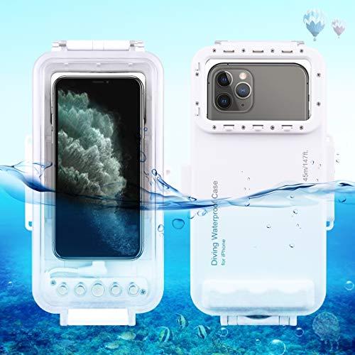 2020 Caja protectora Video de la foto de la carcasa de buceo impermeable 45m que toma la cubierta de la cubierta submarina for iPhone 11, iPhone X, iPhone 8 & 7, iOS 13.0 o por encima de la versión iP