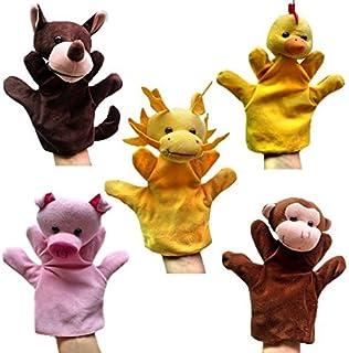 TOYMYTOY Mu/ñecos de mano Mu/ñeca de peluche Juguete Animales lindos de dibujos animados Beb/é Mono Cuento Contar t/íteres