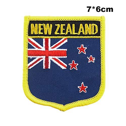 Soode Nieuw-Zeeland Vlag naaien op patches borduurwerk patches pailletten ijzer PT0193-S