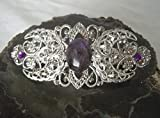Amethyst Triple Moon Barrette handmade jewelry wiccan pagan wicca witch witchcraft goddess
