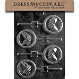 Dress My Cupcake DMCW052SET Chocolate Candy Mold, Hands with Rings Lollipop, Set of 6
