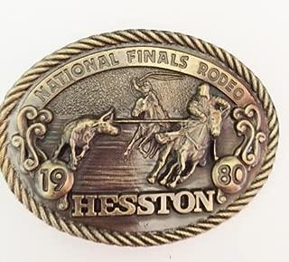 1980 Hesston National Finals Rodeo Belt Buckle