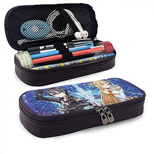 Novetly Leder Federmäppchen Schule Schreibwaren Box japanischen Anime gedruckt Werkzeugkoffer