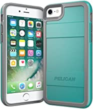 Pelican iPhone Case for 6,7,8 and SE, Protector Series - Military Grade Drop Tested, TPU, Polycarbonate Case for iPhone 6, iPhone 7, iPhone 8, iPhone SE (Grey/Aqua)