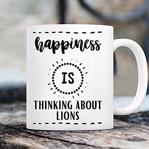 Regalos de León, regalos para los amantes de los leones, regalos temáticos de león, leones, leones, leones, animales, rey del tigre, taza de la novedad, taza divertida de 15 onzas