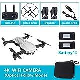 YTGOOD Quadricoptère Pliable RC Drone x Pro 5G Selfie WiFi FPV avec 4K HD Double caméra Paquet Double Batterie 4K Silver