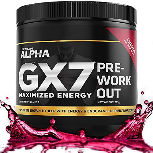 Alpha GX7 Pre Workout for Men and Women - Lasting Energy, Enhanced Performance - Sugar Free 30...
