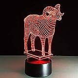Abstrakte Kreisspirale Glühlampe-Hologrammillusion 7 dekoratives Licht des Farbwechsels bestes Inneneinrichtungsnachtlichtgeschenk 1 Fernbedienung