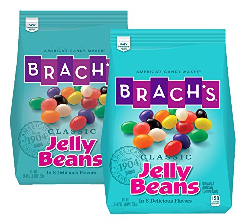 Brach's Classic Jelly Beans, Assorted Flavors, 3.38 Pound Bulk Candy Bag, Pack of 2 from Ferrara Pan Candy Co.