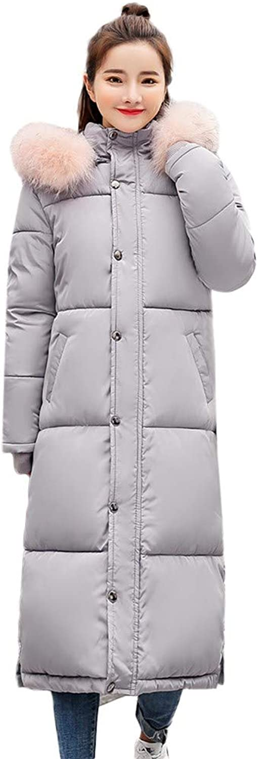 BETTERUU Winter Women's Long Down Cotton Ladies Parka Hooded Coat Quilted Jacket Outwear