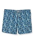 Emporio Armani Swimwear Boxer Neon Seaworld Costume da Bagno, Blue Flowers, 56 Uomo