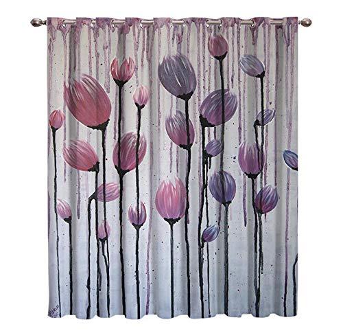 WKJHDFGB Cortinas De Tulipán Abstractas Ideas De Tratamiento De Ventanas para Ventanas Grandes Cortinas De Escaparates Sala De Estar Vivero Aislado 185X135Cm