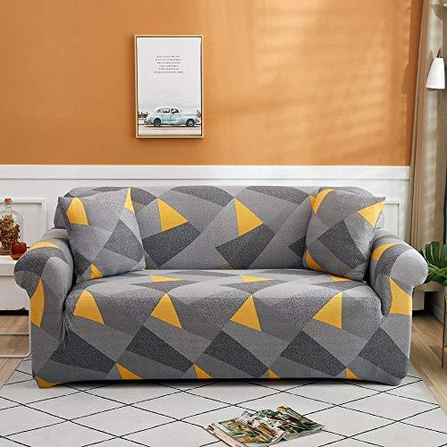 ASCV Funda de sofá con Estampado de Colores geométricos Fundas elásticas Funda de sofá antisuciedad Funda de sofá Funiture Toalla All Wrap A3 4 plazas