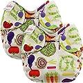 Blueberry Organic Newborn Simplex All in One Cloth Diapers, Bundle of 2, Made in USA (Veggies)