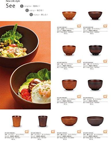 SEE麺どんぶりライトブラウン4512951107623