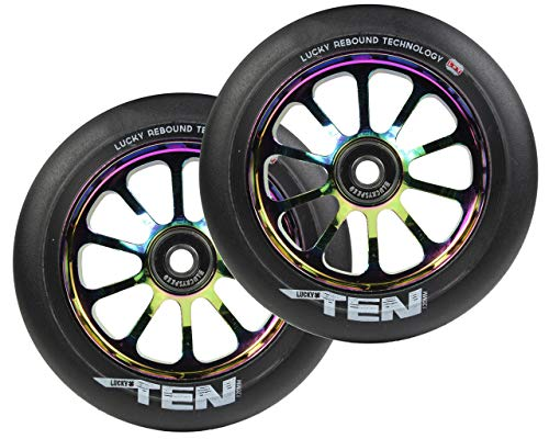Lucky Atom Stunt-Scooter Wheel 110mm neochrom//PU NERO