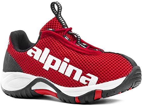ALPINA Unisex-Kinder EWL Junior Freizeitschuhe,Trekking-& Wanderhalbschuhe (rot, 29)